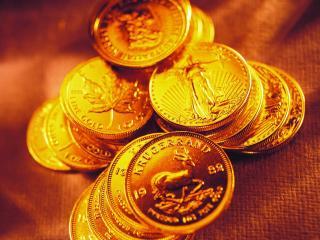 обои Горка блестящих монет фото