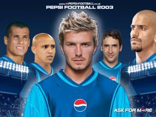 """обои Звезды футбола в рекламе """"Pepsi"""" фото"""