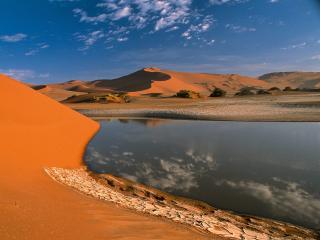 обои Озеро в пустыне фото