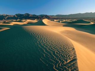 обои Горы песков в пустыне фото