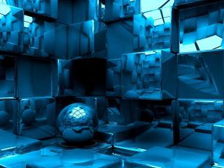 обои Нагромождение кубов фото