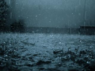 обои Серый проливной дождь фото