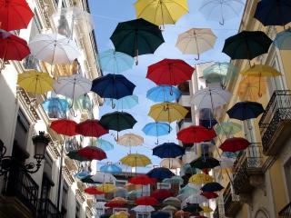 обои Летящие зонты фото