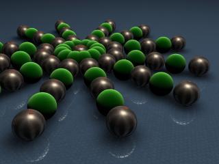 обои Узор из черно-зеленых шаров фото
