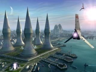 обои Мегаполис будущего фото