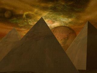 обои Ночные пирамиды фото