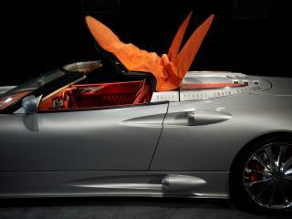 обои 2010 Spyker C8 Aileron Spyder открываеться крыша фото