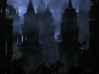 обои Темный старинный город фото