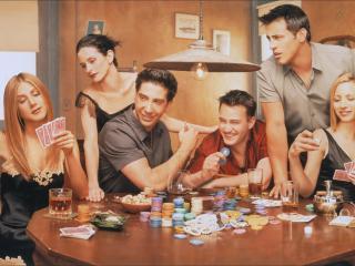 обои Друзья играют в покер фото