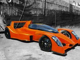 обои 2007 Caparo T1 оранжевый фото