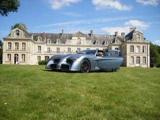 обои 2010 Panoz Abruzzi Spirit of Le Mans у замка фото
