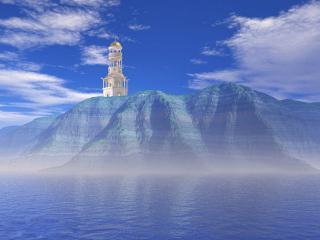 обои Золотой маяк фото