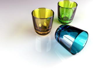 обои 3 3-D стакана фото