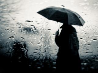 обои Человек с зонтом фото