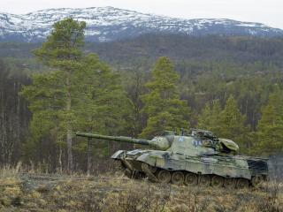 обои Немецкий танк на фоне гор фото