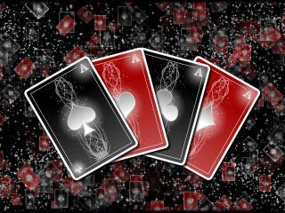 обои Четыре красно-черных туза фото