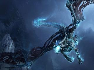 обои Ледяной дракон фото