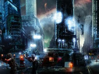 обои Ночное патрулирование города фото