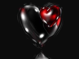 обои Трехмерное темное сердце фото