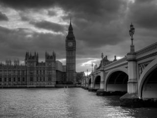обои Черно белый Лондон фото