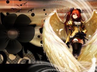 обои Девушка ангел фото