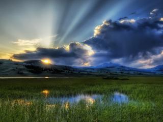обои Рассвет и облака фото