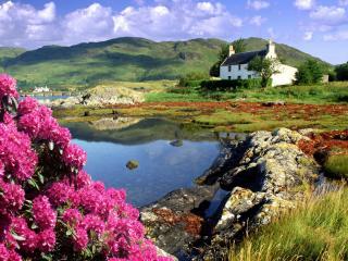 обои Дом в Dornie,   Lochalsh,   Шотландия фото