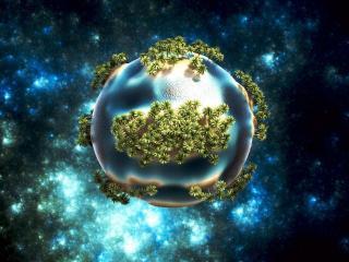 обои Зеленая планета фото