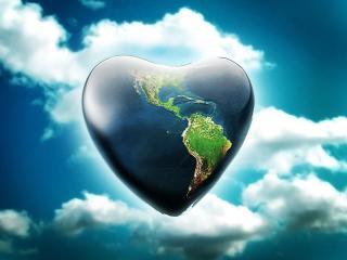 обои Земля - сердце фото
