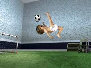 обои Юный футболист фото