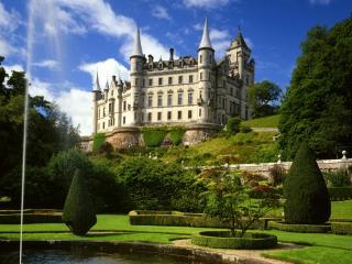 обои Замок Dunrobin,   Сазерленд,   Шотландия фото