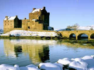 обои Замок Eilean Donan,   Озеро Duich,   Западная Горная местность,   Шотландия фото