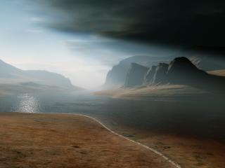обои Пустынное побережье фото