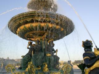 обои для рабочего стола: Фонтан в Place de la Concorde,   Париж,   Франция