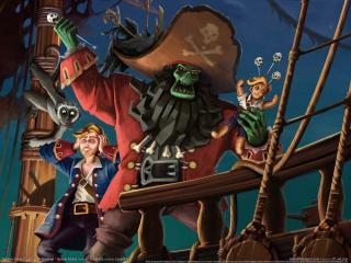 обои Escape from Monkey Island пират фото