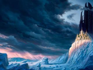 обои Замок у скалистого берега фото