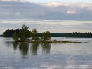 обои Остров на озере фото