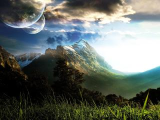 обои Горы и планеты фото