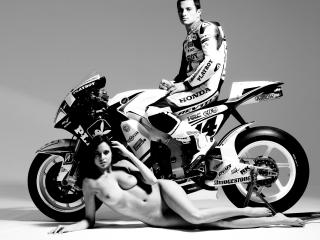 обои Девушка У Honda фото