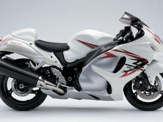 обои Спортбайк  Suzuki белый фото