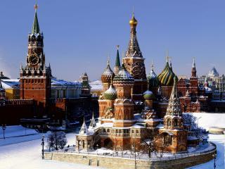 обои Собор Василия Блаженного в снегу фото