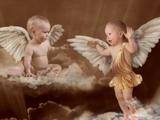 обои Детки ангелочки фото