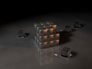 обои Зеркальный кубик - рубик фото