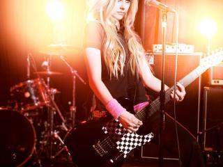 обои Девушка рок музыкант фото