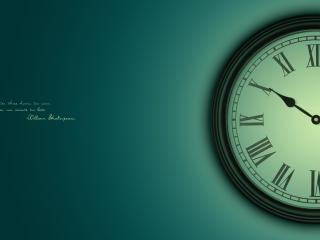 обои Часы и надпись. Better three hours too soon,   than one minute too late. William Shakespeare фото
