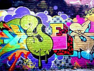 обои Позитивно-яркое граффити фото