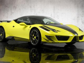 обои Желтый Mansory-Ferrari-458-Italia фото