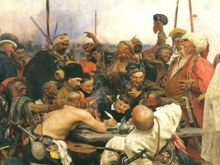обои Запорожцы пишут письмо турецкому султану фото