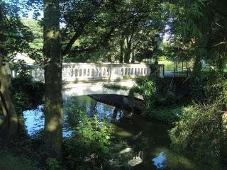 обои Мост через речку фото