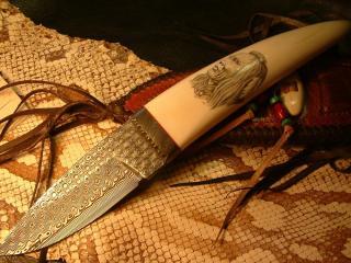 обои Нож с узорами фото